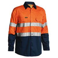 3M Taped Two Tone Hi Vis Cool Lightweight Mens Shirt - Long Sleeve Thumbnail